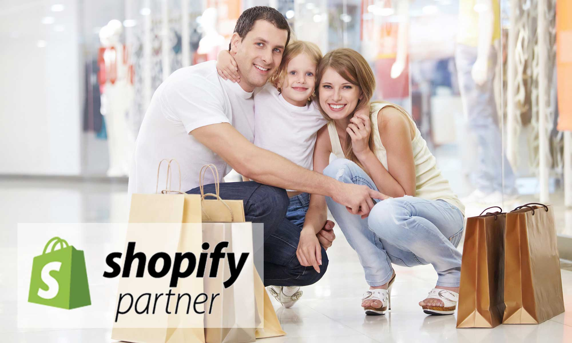 Shopping mall, Logo Shopify, certified Partner